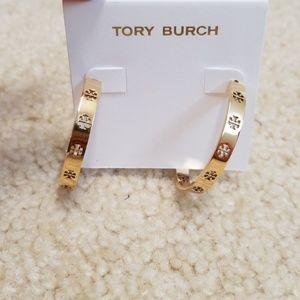 BNWT tory burch hoop earrings